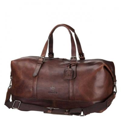 Foto van Leonhard Heyden Roma Travel Bag 9053762 dark brown