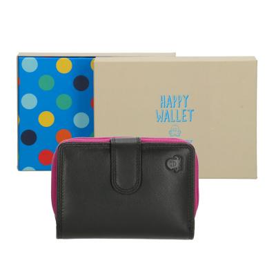 Happy Wallet Rainbow Portemonnee 18362 Zwart
