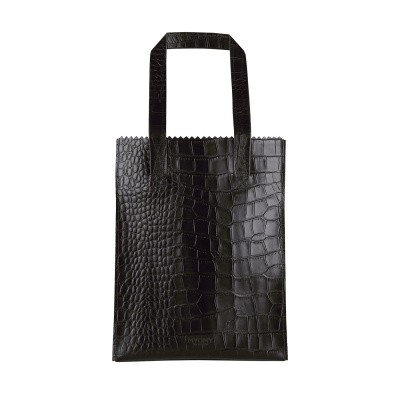 Foto van Shopper Myomy MY PAPER BAG Long handle zip ­croco Black