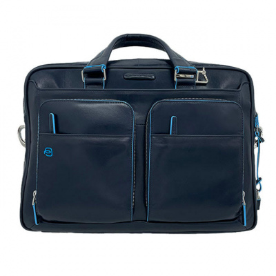 Laptoptas Piquadro Blue Square Night Blue