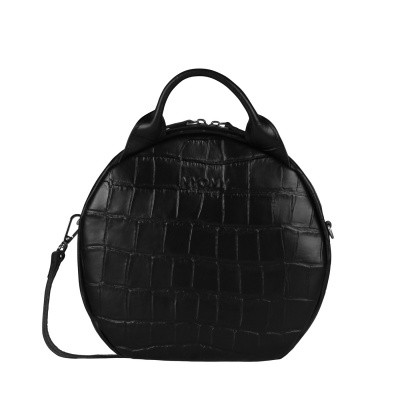 Foto van Hand/schoudertas Myomy Boxy Bag Cookie croco black