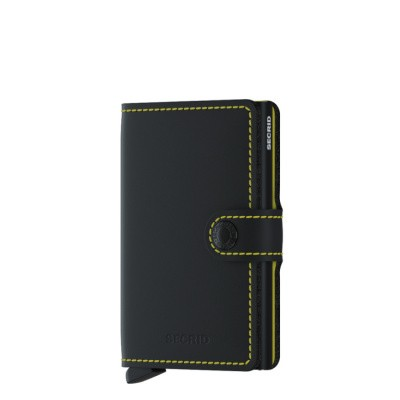 Miniwallet Secrid Matte Black-Yellow
