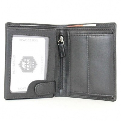 Bear Design Lage Billfold opklap FR 7208 Black