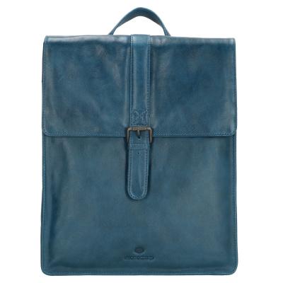 Micmacbags Porto rugzak - 15 inch - 18059 Jeansblauw