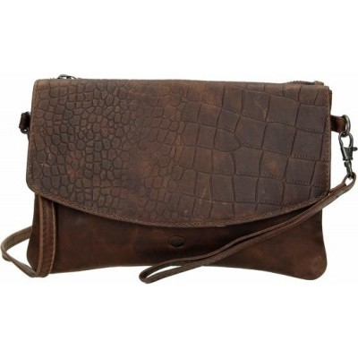 Clutch Micmacbags Everglades Donkerbruin