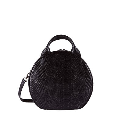 Foto van Hand/schoudertas MYOMY My Boxy Bag Cookie Anaconda Black