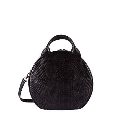Hand/schoudertas MYOMY My Boxy Bag Cookie Anaconda Black