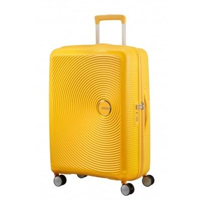 Foto van American tourister Soundbox SPINNER 67/24 Golden Yellow