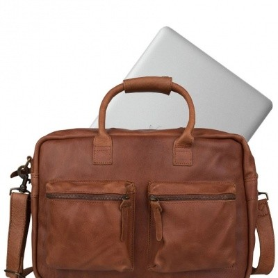 Foto van Cowboysbag The College Bag Cognac