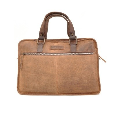 Foto van Barbarossa Ruvido 826-100 Flat Notebook Bag Coffee