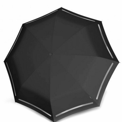 Knirps T-200 Medium Duomatic Paraplu Reflective Zwart