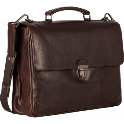 Leonhard Heyden Roma Briefcase 2 Compartments brown