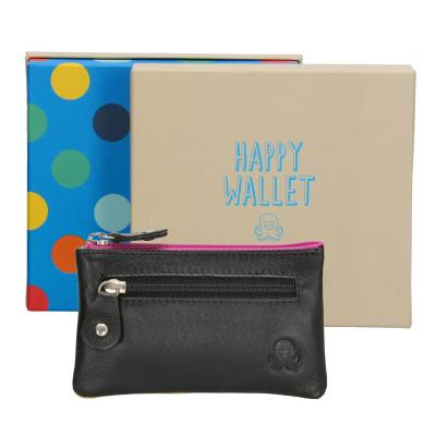 Sleuteletui Happy Wallet Rainbow in giftbox 18361 Zwart