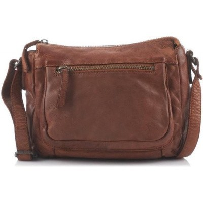 Foto van Bear Design Cow Lavato CL 35649 Leren Schoudertas / Crossbodytas - Cognac