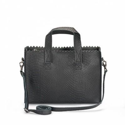 MPB Mini Handbag Cross-body Anaconda Black