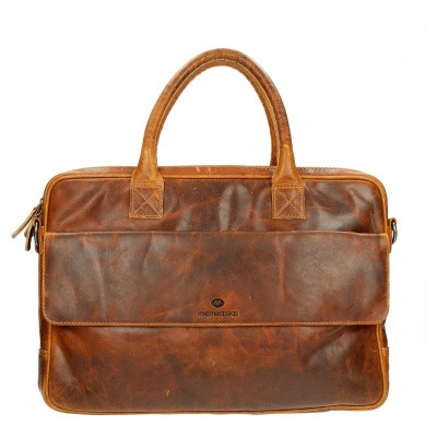 Foto van Business tas Micmacbags Cognac