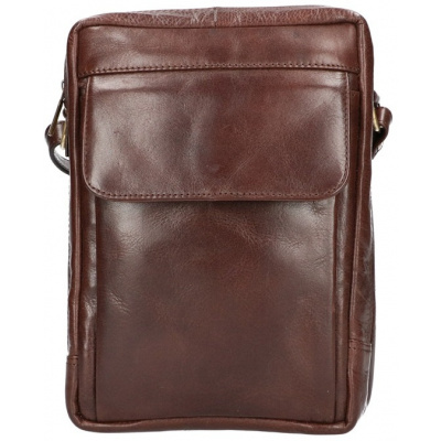 Heren Schoudertas Leather Design CC 1338 Bruin