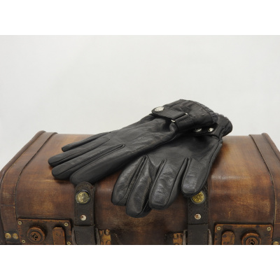 Foto van Leren Herenhandschoenen Glove Story met polyester voering zwart