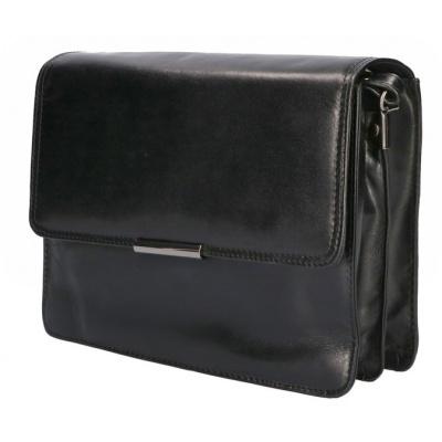 Schoudertas Leather Design CC 1157 Zwart