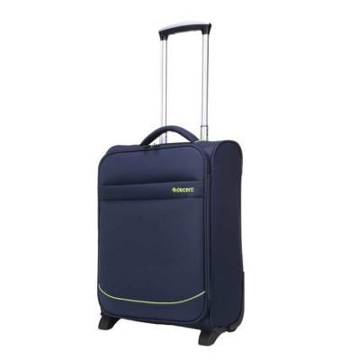Foto van Handbagage koffer Decent Super-Light Trolley 50 Donker Blauw