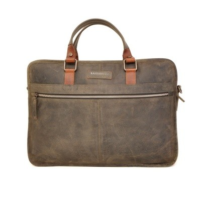 Foto van Barbarossa Ruvido 826-132 Double Section Businessbag Military