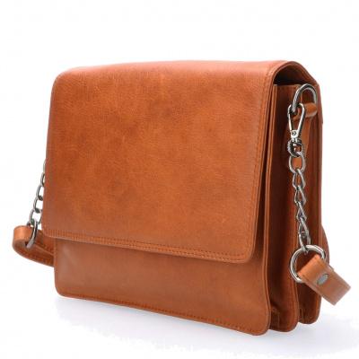 Foto van Schoudertas Leather Design HB 760 Cognac