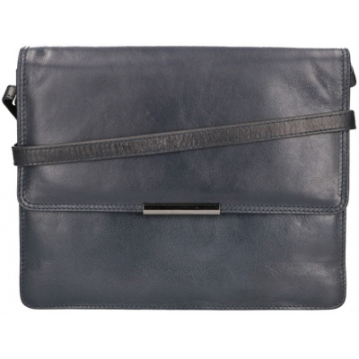 Schoudertas Leather Design CC 1157 Blauw