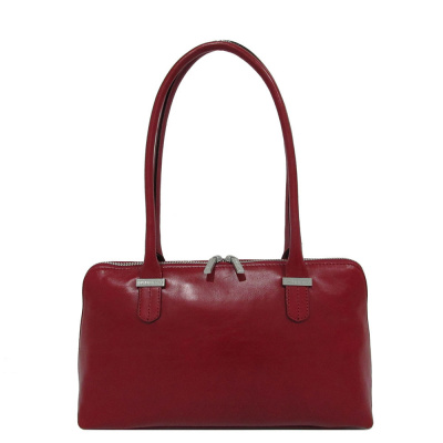 Claudio Ferrici Classico Shoulder Bag Red