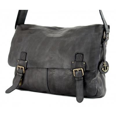 Harbour 2nd Yamal College Bag Leder zwart