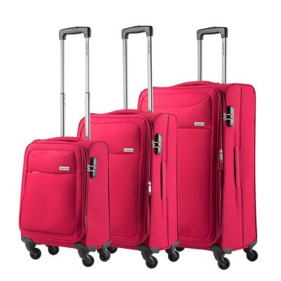 CarryOn Trolleyset 3pcs AIR Cherry Red