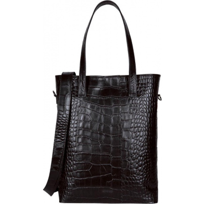 MYOMY PAPER BAG Handtas Wrapped Office Croco Black