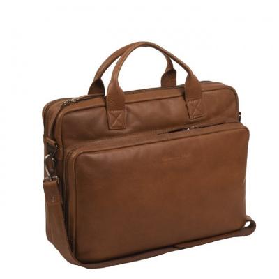 Laptoptas The Chesterfield Brand 'Jackson' Cognac