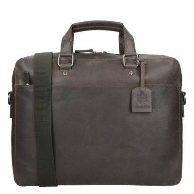 Foto van Briefcase Leonhard Heyden Dakota 1 Compartment brown