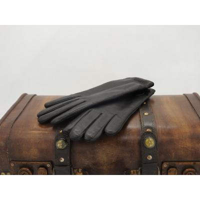 Foto van Leren Dameshandschoenen Glove Story Zwart met wollen voering