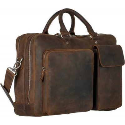 Leonhard Heyden Salisbury Zipped Business Bag brown