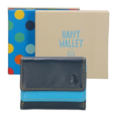 Happy Wallet Rainbow Portemonnee 18363 Blauw