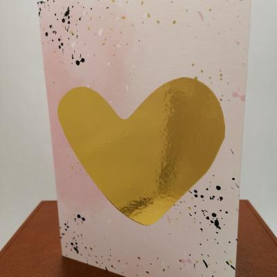 Foto van Valentijnkaart A5 Goudfolie hart