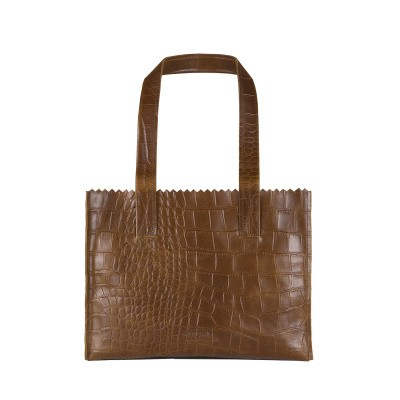 Foto van Handtas Myomy MY PAPER BAG Handbag ­croco original