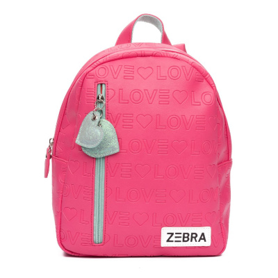 Foto van Rugtas Zebra S 488804 Love Pink