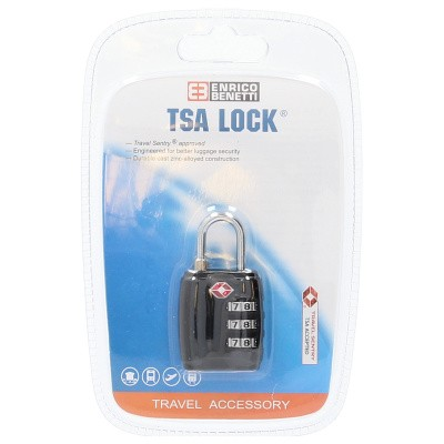 Foto van Cijfer TSA Slot metal Enrico Benetti 55022001 Zwart