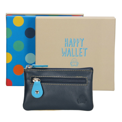 Sleuteletui Happy Wallet Rainbow in giftbox 18361 Blauw
