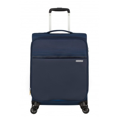 Foto van Handbagage American Tourister Lite Ray Spinner 55 Expandable Midnight Navy