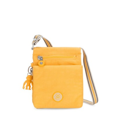Schoudertas Kipling New Eldorado Vived Yellow