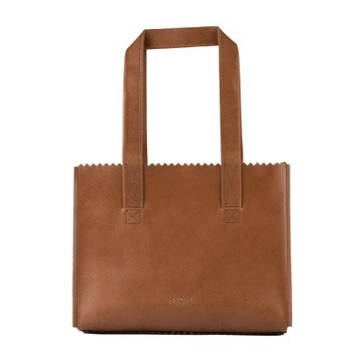 Foto van Myomy My Paper Bag Handbag Hunter Waxy Cognac