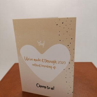 Foto van Valentijnkaart parelmoer A6
