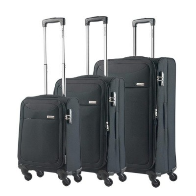 Foto van CarryOn Trolleyset 3pcs AIR Black