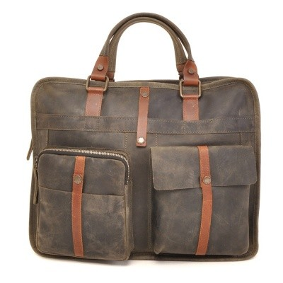 Foto van Barbarossa Ruvido 826-130 Single Section Businessbag Military