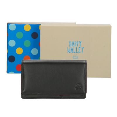 Portemonnee Happy Wallet in giftbox 18360 Zwart