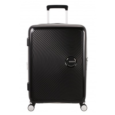Foto van Koffer American Tourister Soundbox Spinner 67 Exp. Black/White