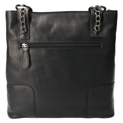 Hand/Rugtas Leather Design HB 660 Zwart